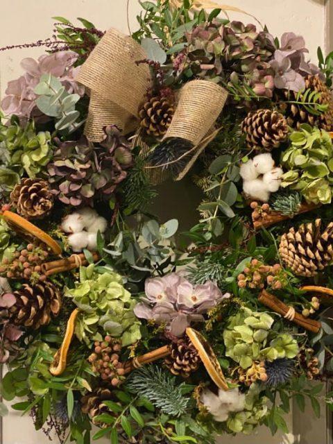 Corona de Adviento Montbéliard de Docrys Floral Concepts