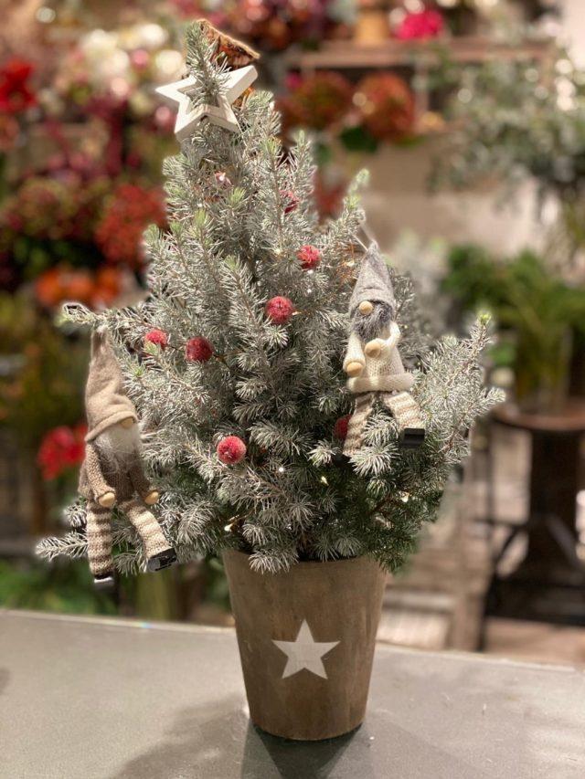 Arbolito de Navidad White Star